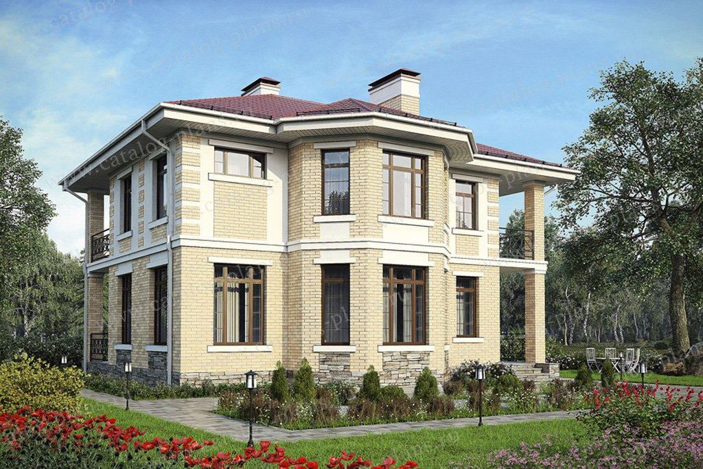Проект жилой дом #57-41K материал - кирпич, стиль классический