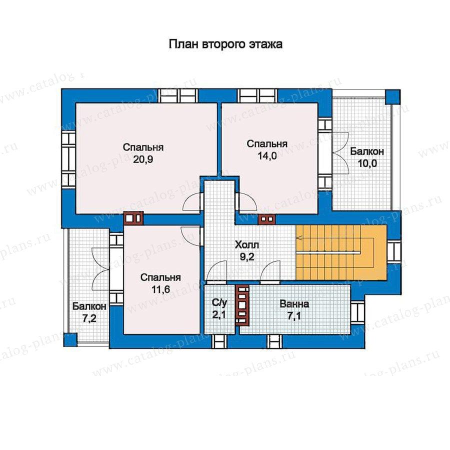 План 2-этажа проекта 57-19