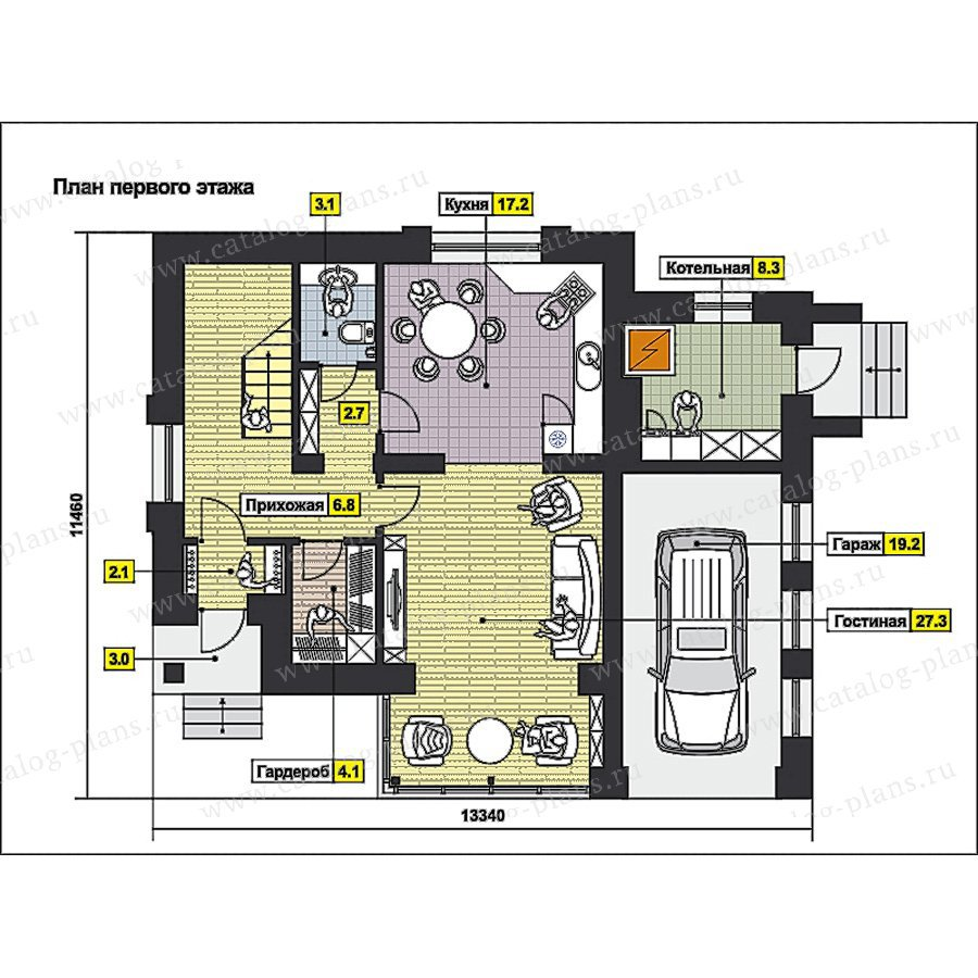 План 1-этажа проекта 59-65