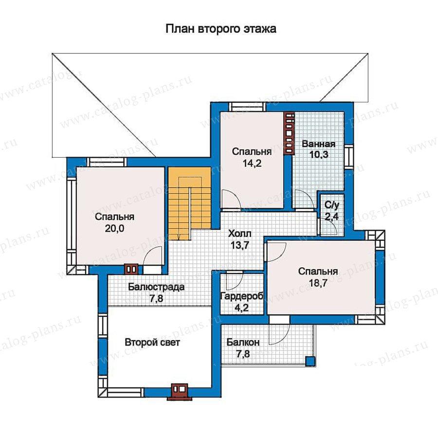 План 2-этажа проекта 57-21
