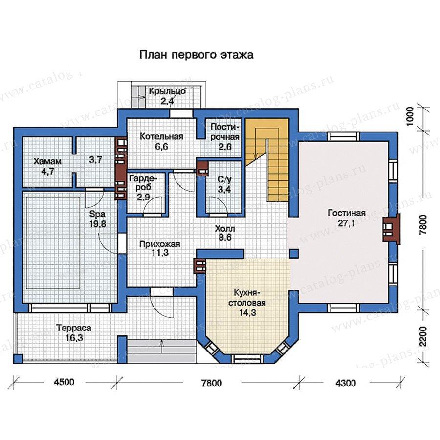 План 1-этажа проекта 57-25