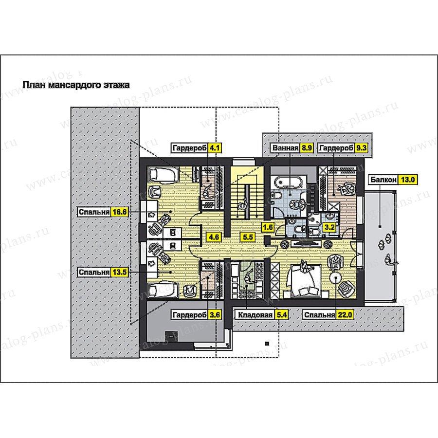 План 2-этажа проекта 59-71