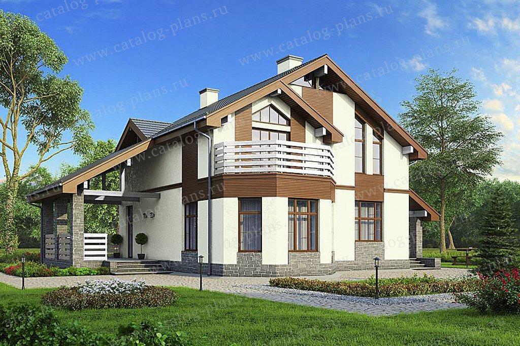 Проект жилой дом #57-43 материал - газобетон, стиль скандинавский