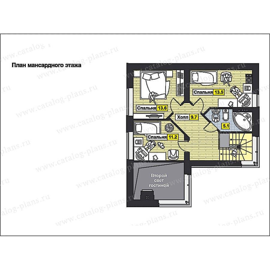 План 2-этажа проекта 59-72