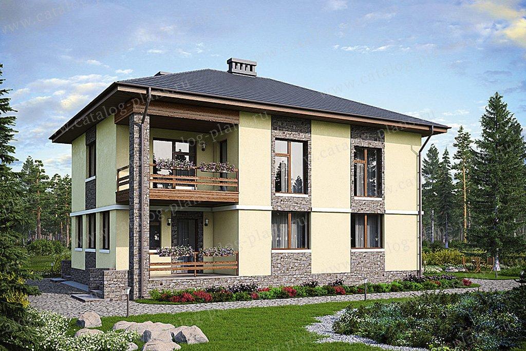 Проект жилой дом #57-45K материал - кирпич, стиль современный