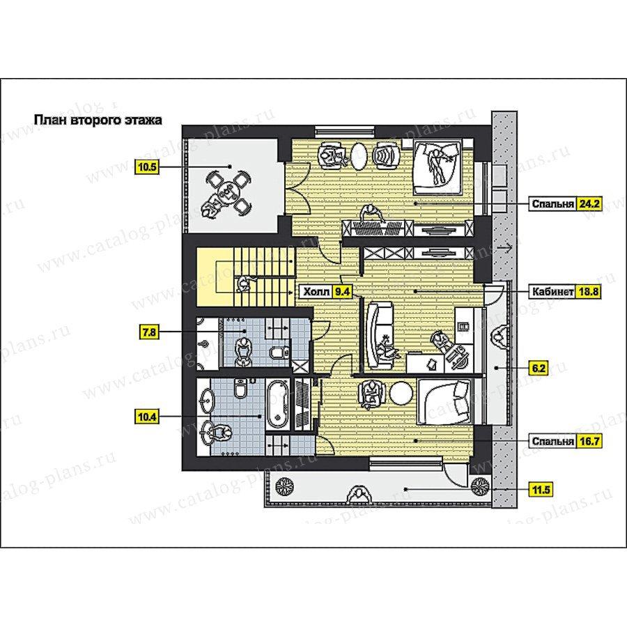 План 2-этажа проекта 59-73