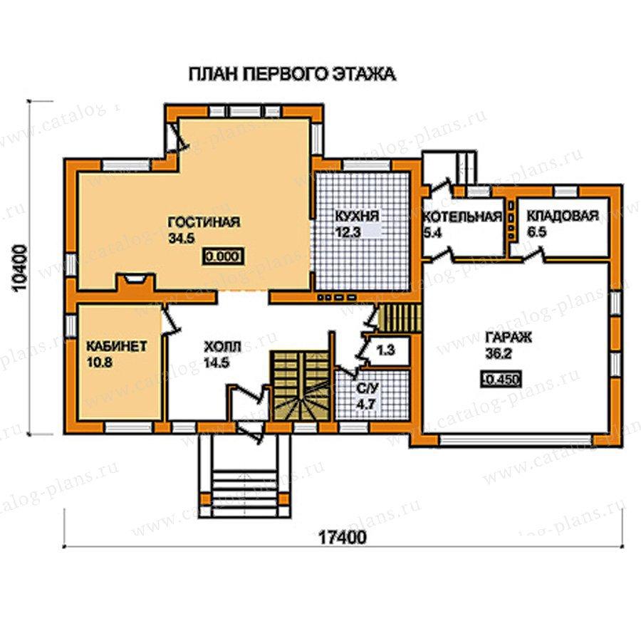 План 1-этажа проекта 59-56