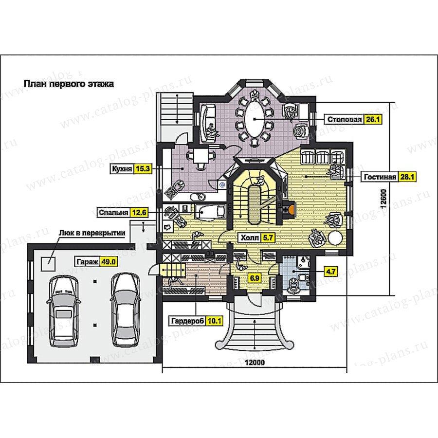 План 2-этажа проекта 59-78