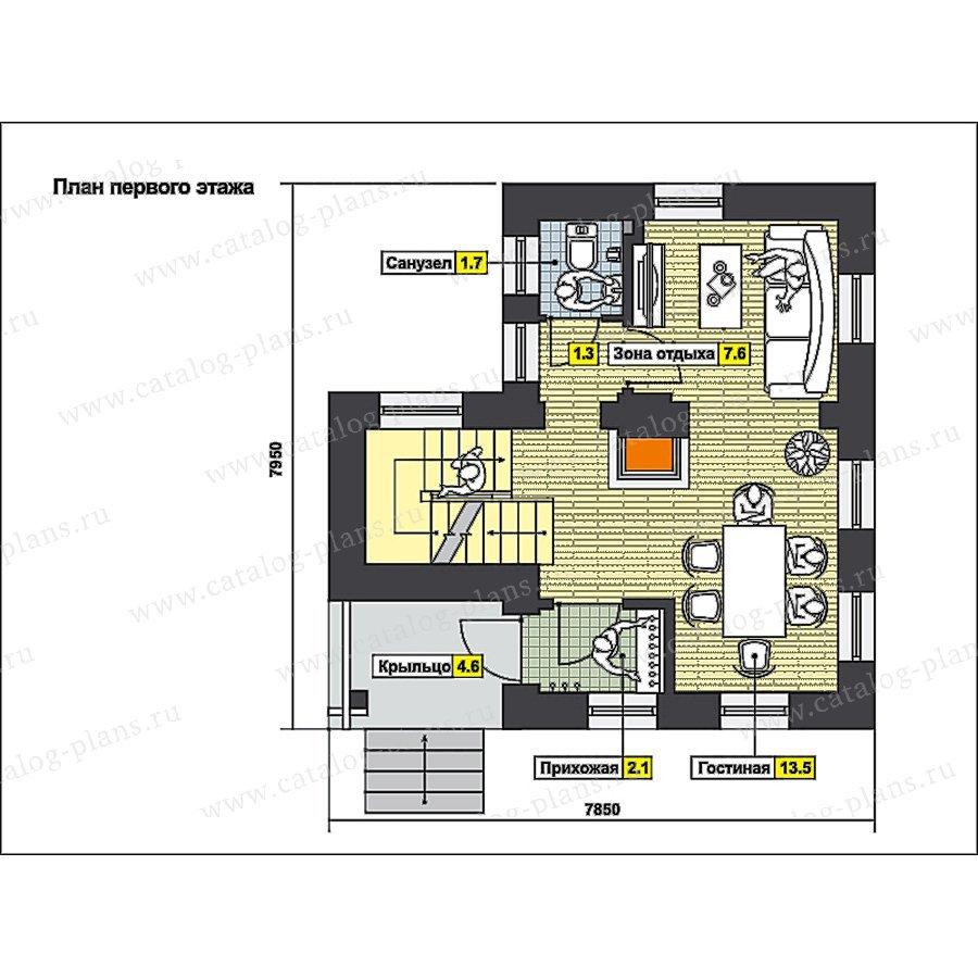 План 2-этажа проекта 59-66