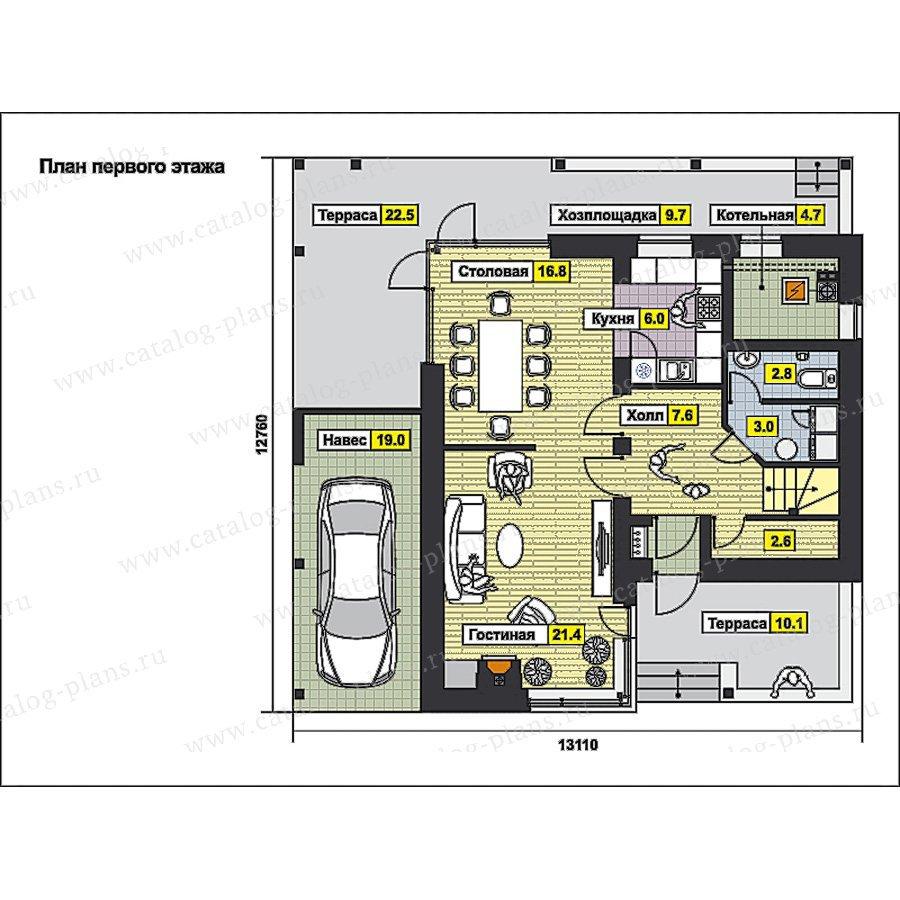 План 1-этажа проекта 59-72