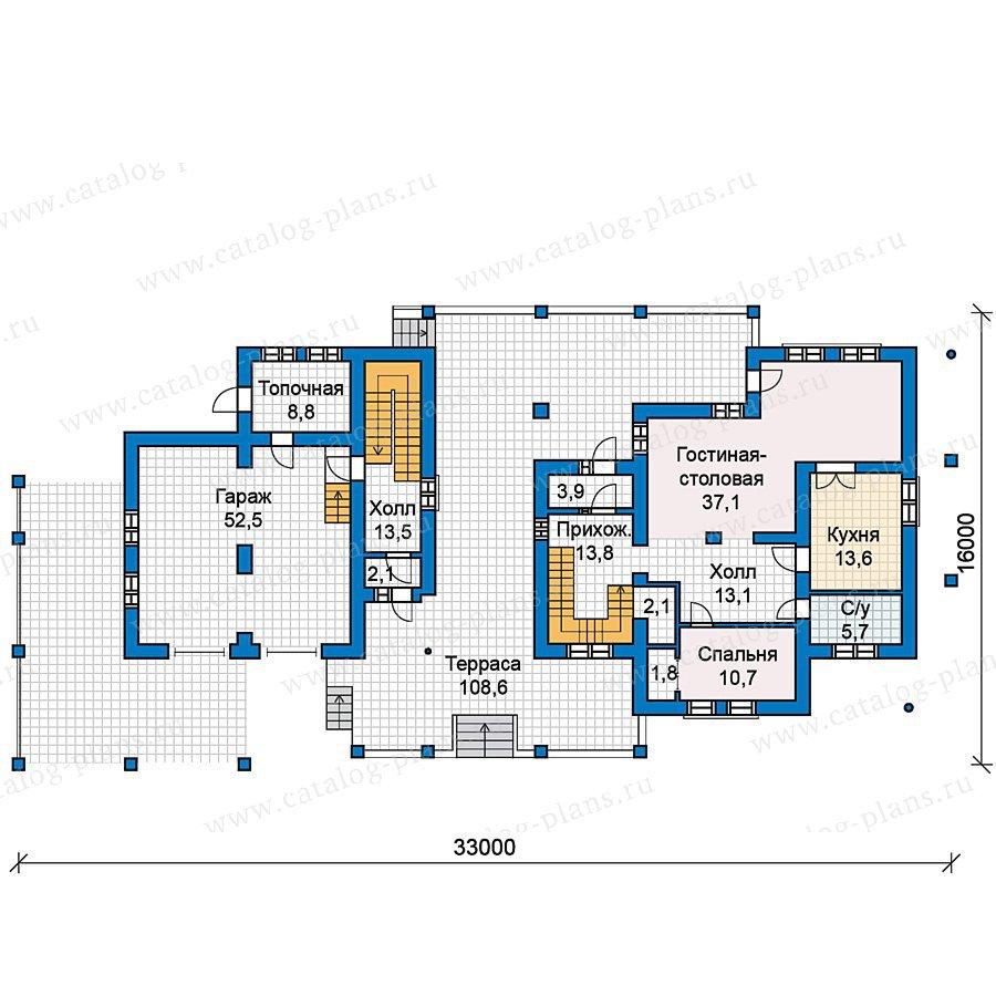 План 1-этажа проекта 59-60