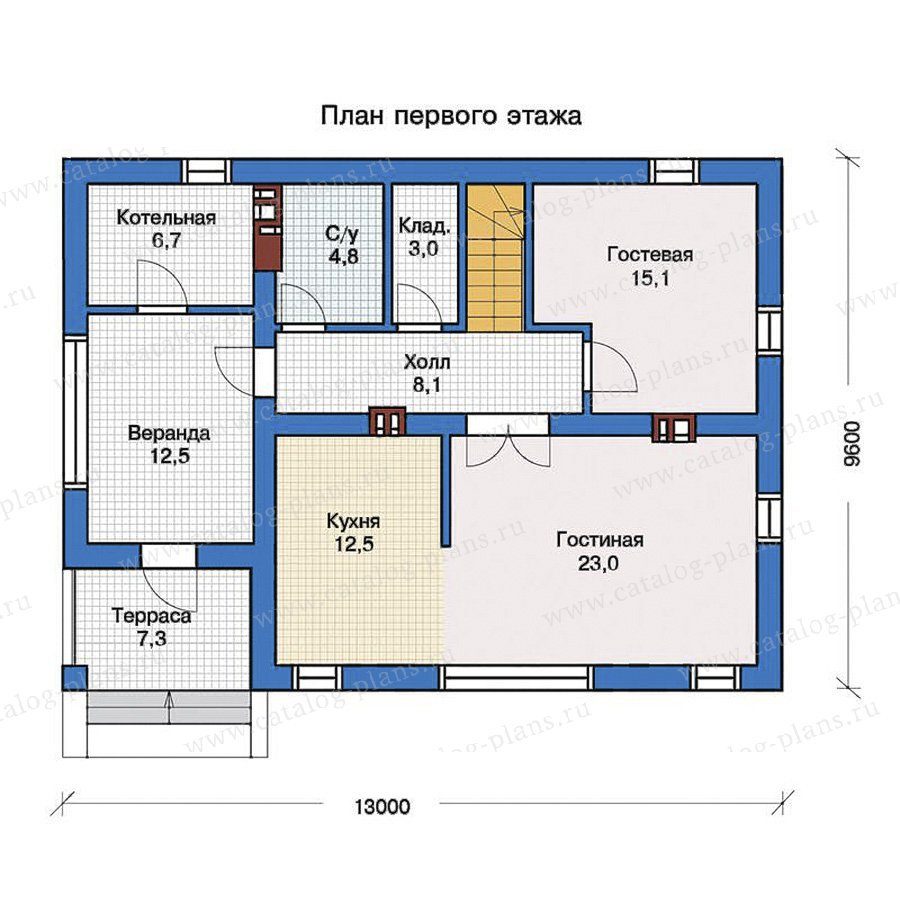 План 1-этажа проекта 57-26