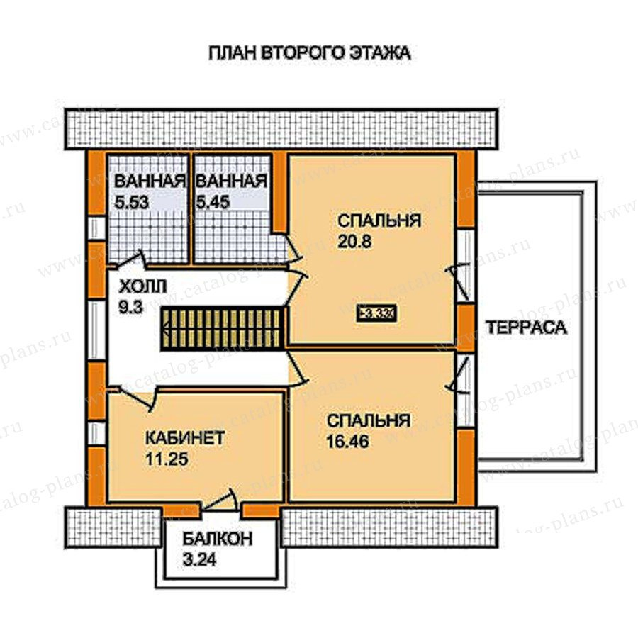 План 2-этажа проекта 59-55