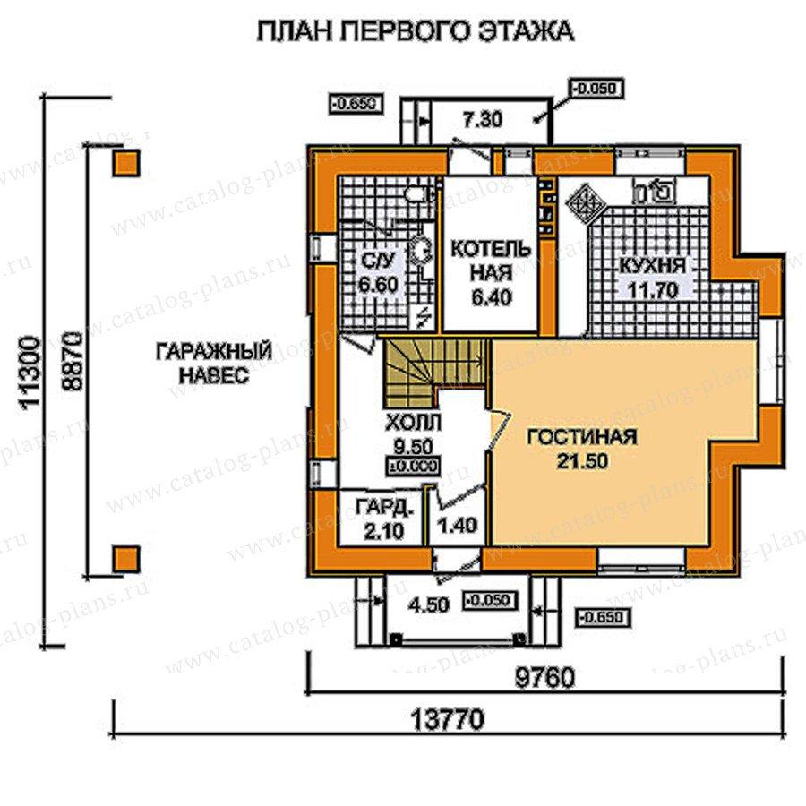 План 1-этажа проекта 59-52