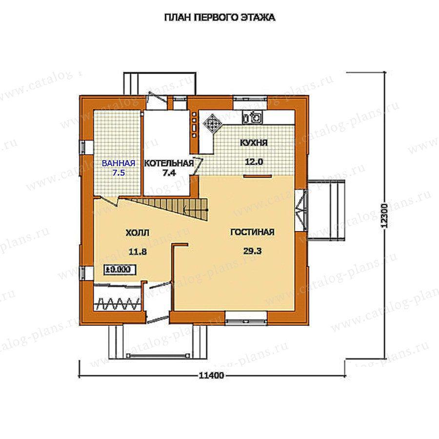 План 1-этажа проекта 59-53