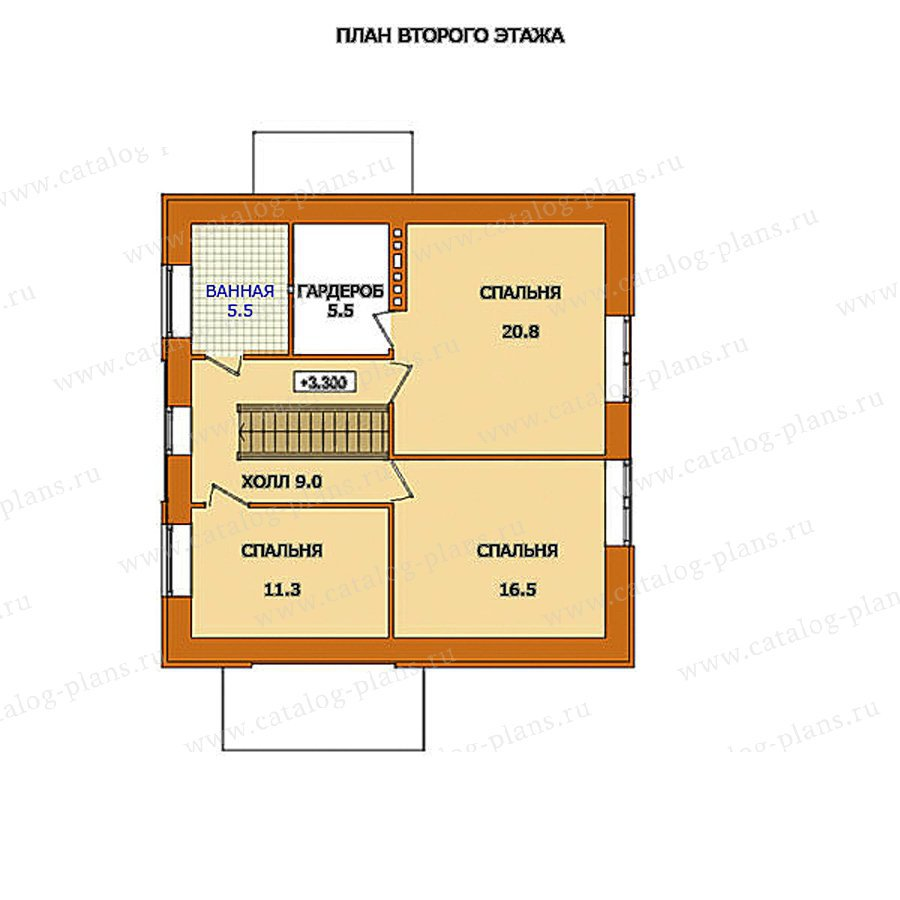 План 2-этажа проекта 59-53