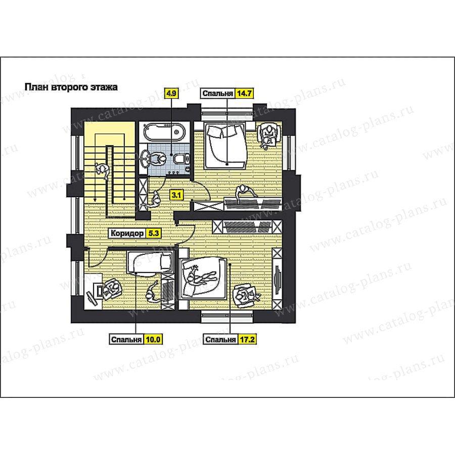 План 2-этажа проекта 59-65