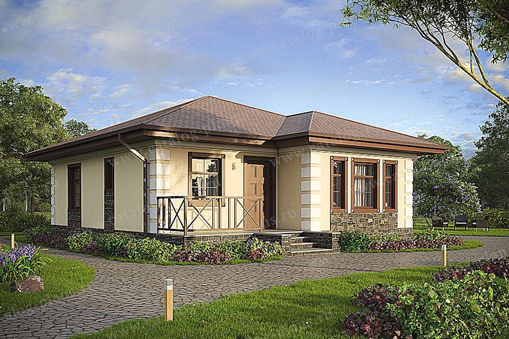 Проект жилой дом #57-37 материал - газобетон, стиль классический