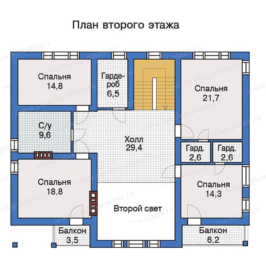 План 3-этажа проекта 57-28K