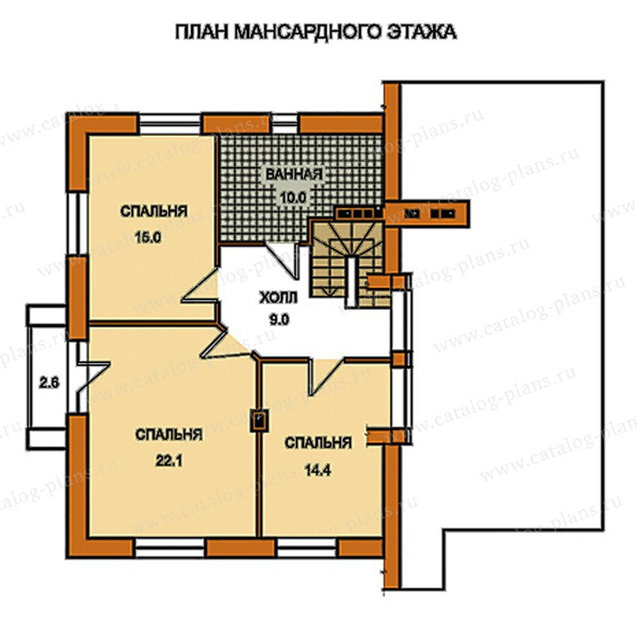 План 2-этажа проекта 59-49