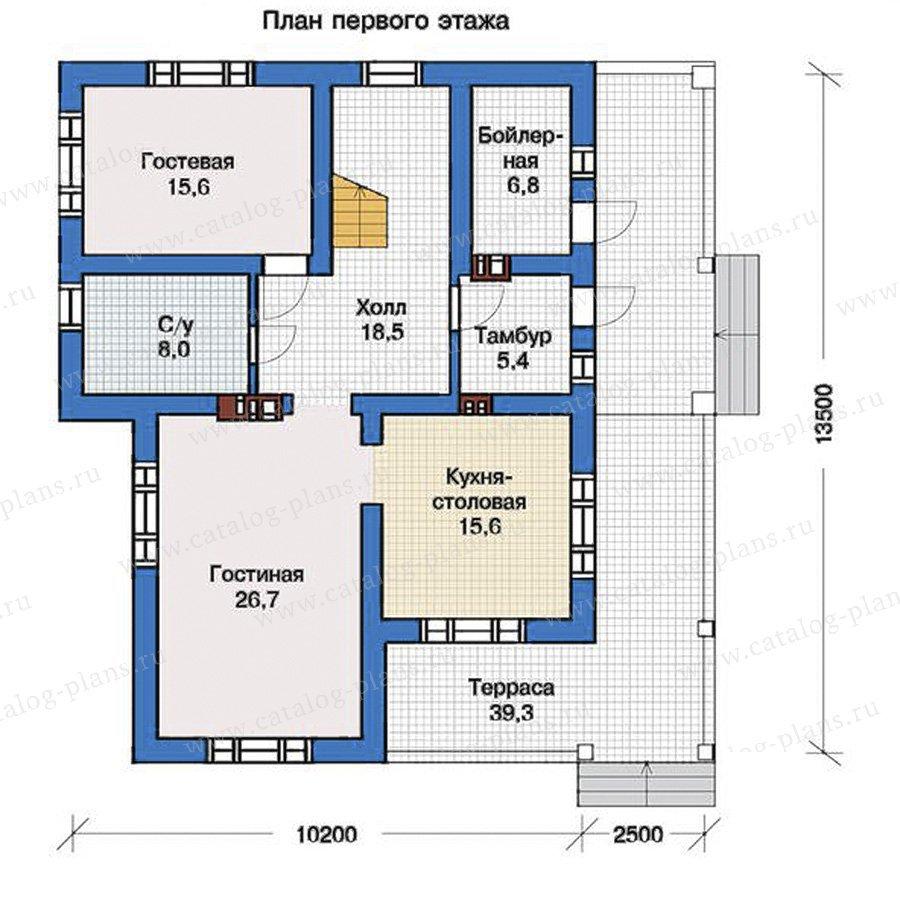 План 1-этажа проекта 57-36