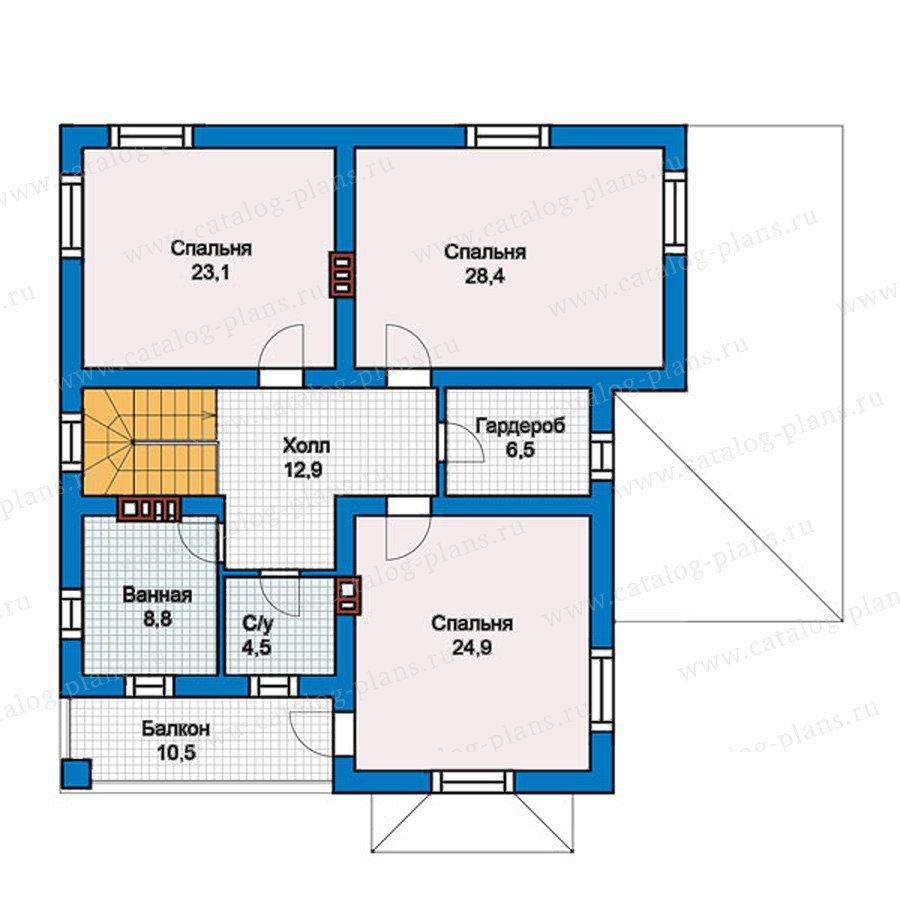 План 2-этажа проекта 57-39Кедрал