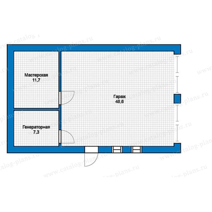 План 1-этажа проекта 57-44K