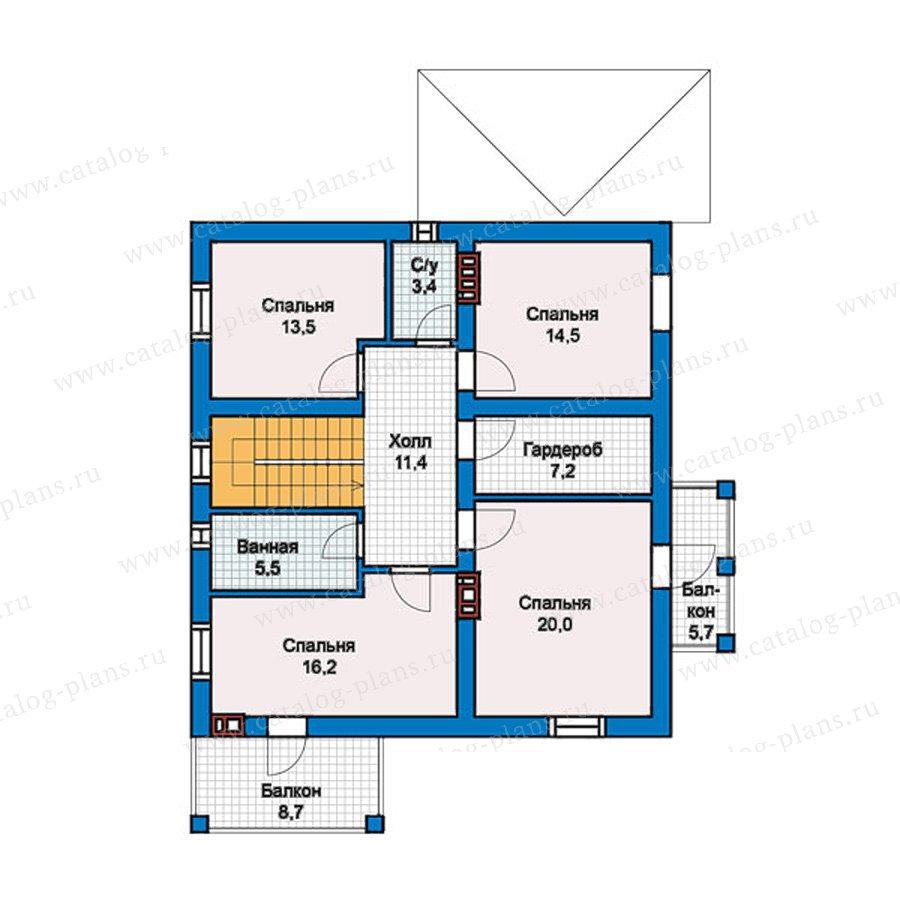 План 2-этажа проекта 57-46L