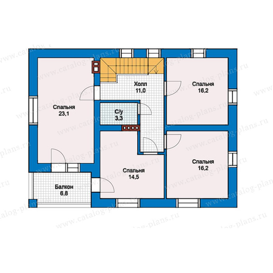 План 2-этажа проекта 57-45K