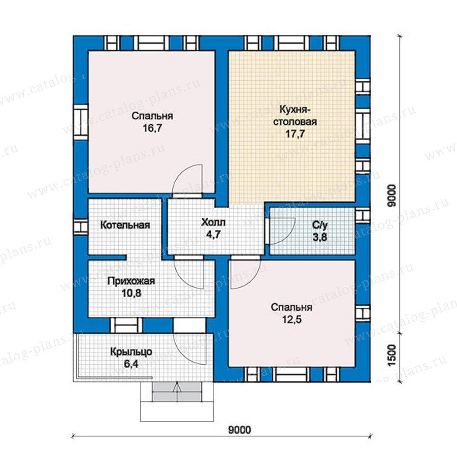 План 1-этажа проекта 57-37