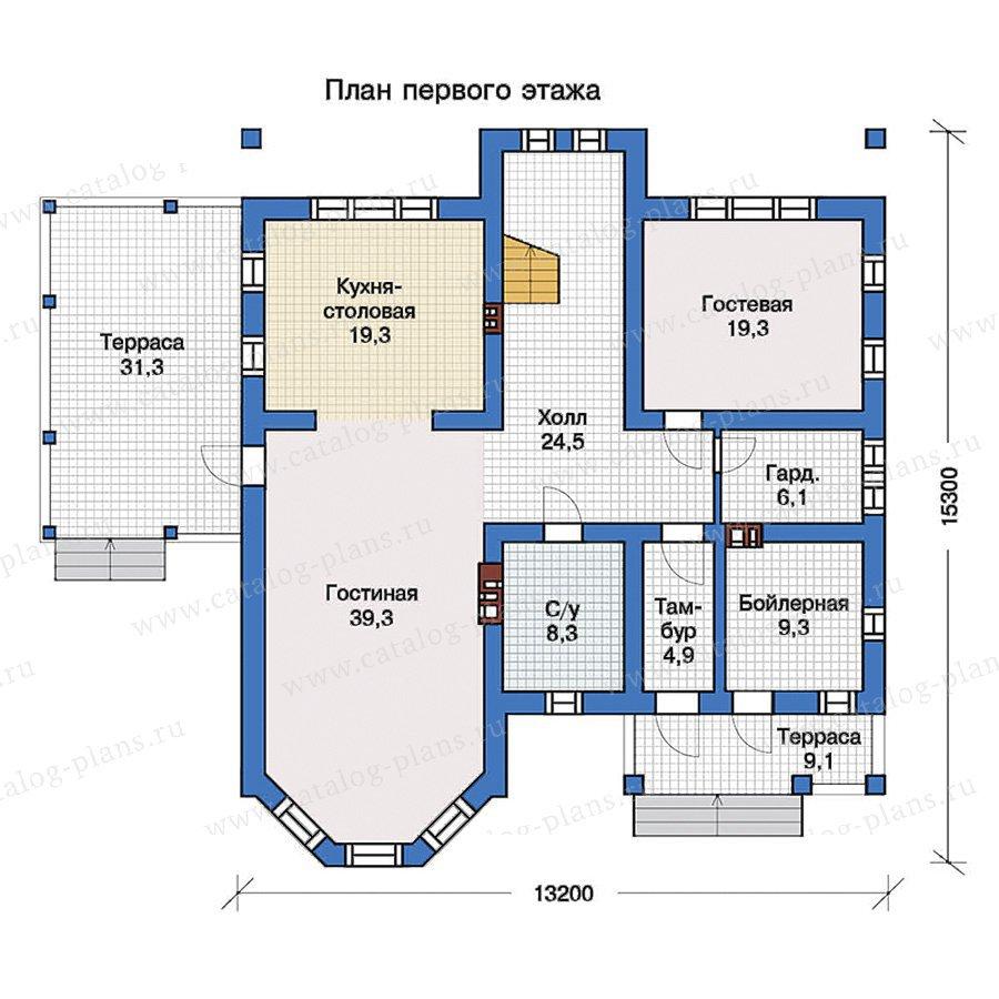 План 1-этажа проекта 57-34