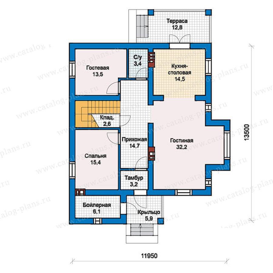 План 1-этажа проекта 57-46L