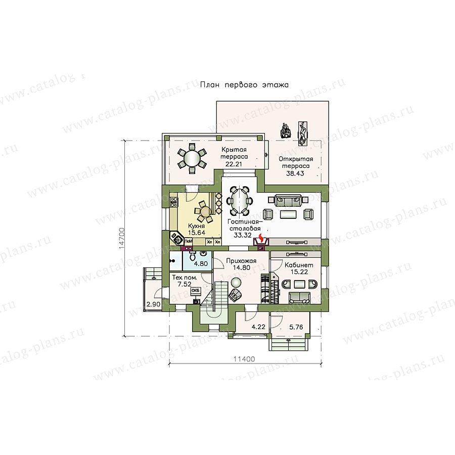 План 1-этажа проекта 48-16