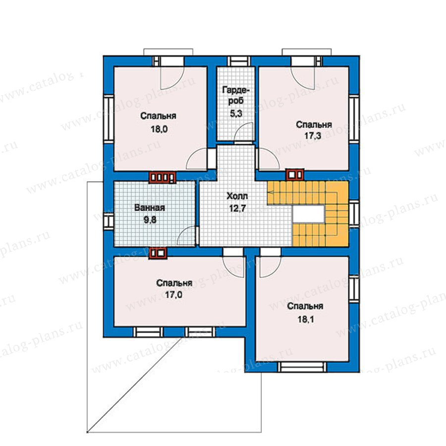 План 2-этажа проекта 57-42