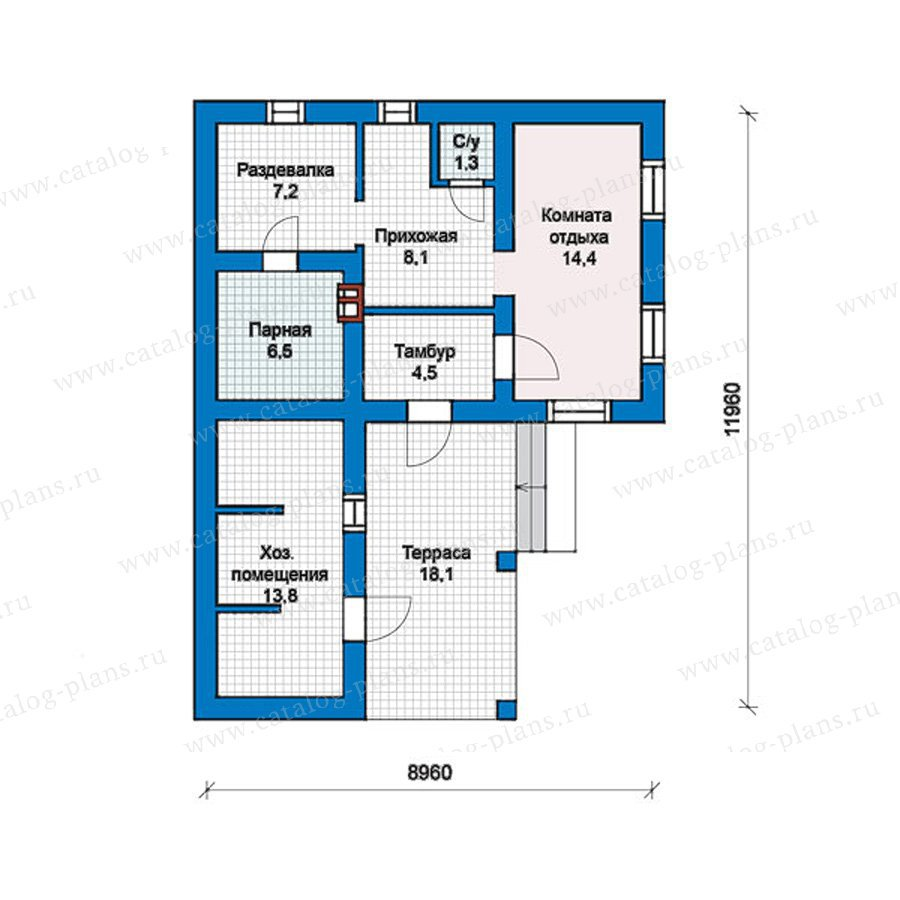 План 1-этажа проекта 57-40K