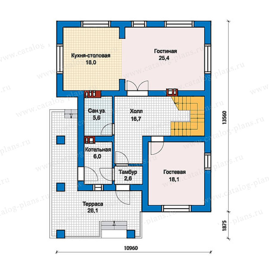 План 1-этажа проекта 57-42K