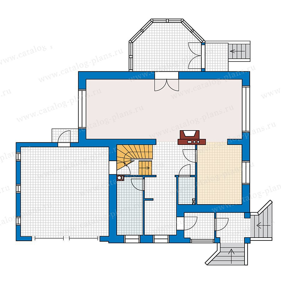 План 1-этажа проекта 49-11