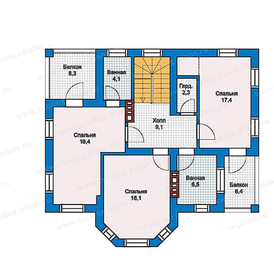 План 2-этажа проекта 57-41G