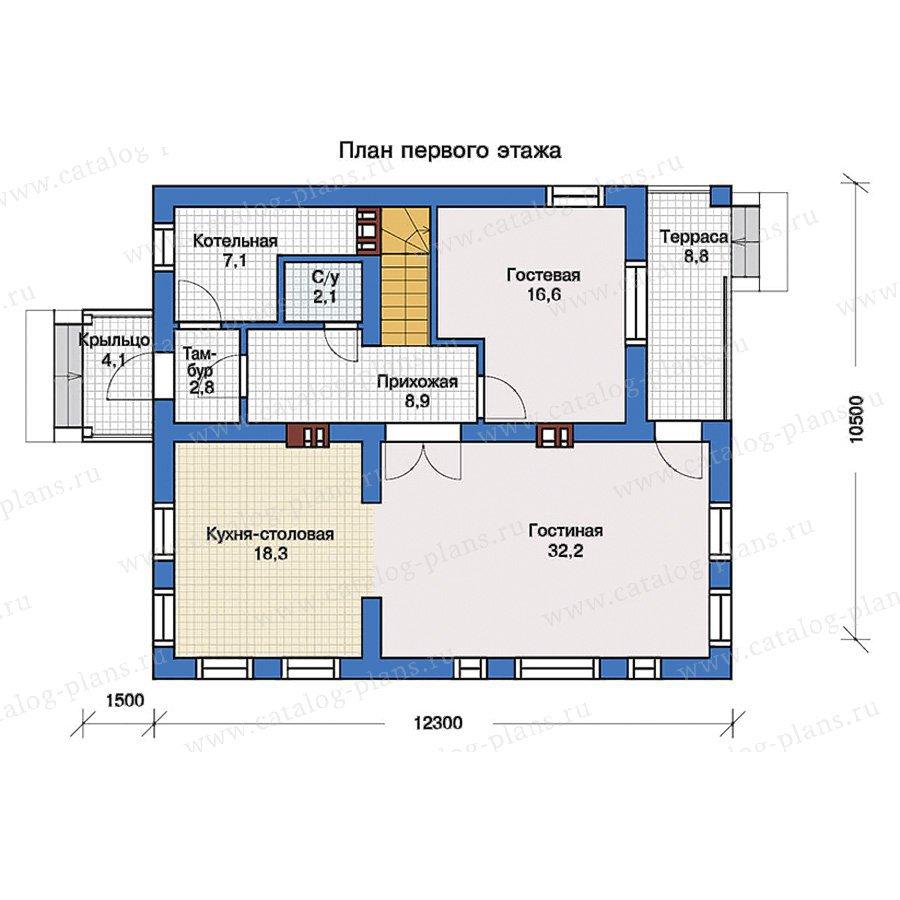 План 1-этажа проекта 57-35