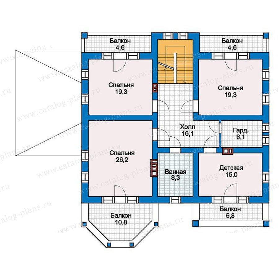 План 2-этажа проекта 57-34