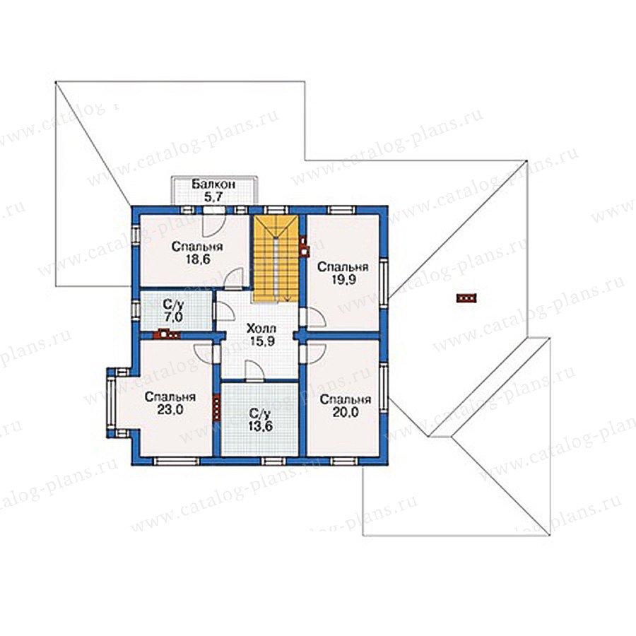 План 2-этажа проекта 37-16