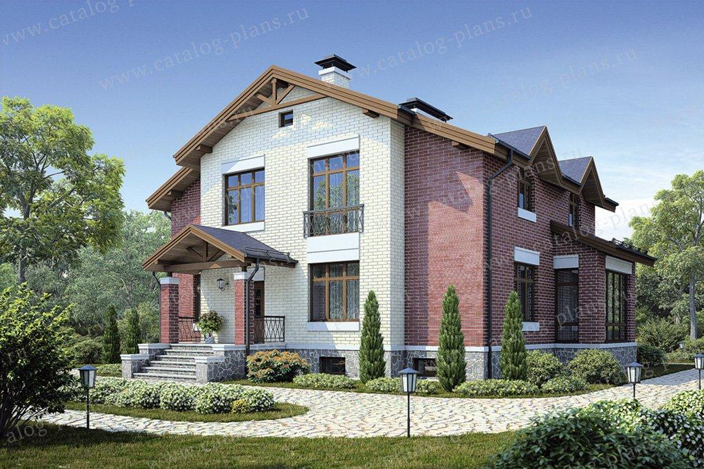 Проект жилой дом #38-54 материал - кирпич, стиль европейский