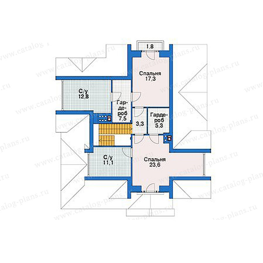 План 3-этажа проекта 39-08