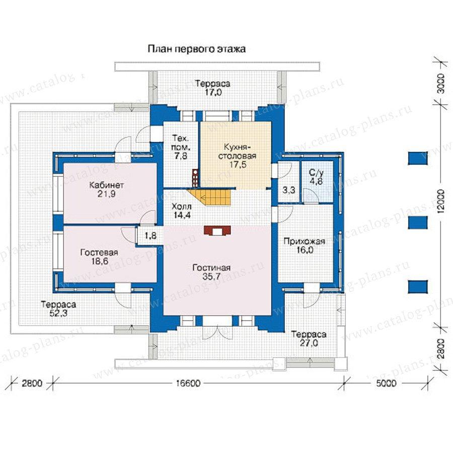 План 1-этажа проекта 39-38