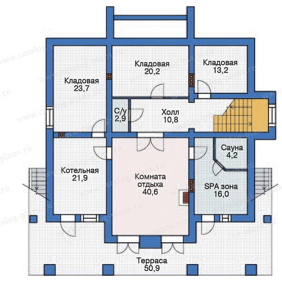 План 1-этажа проекта 38-28