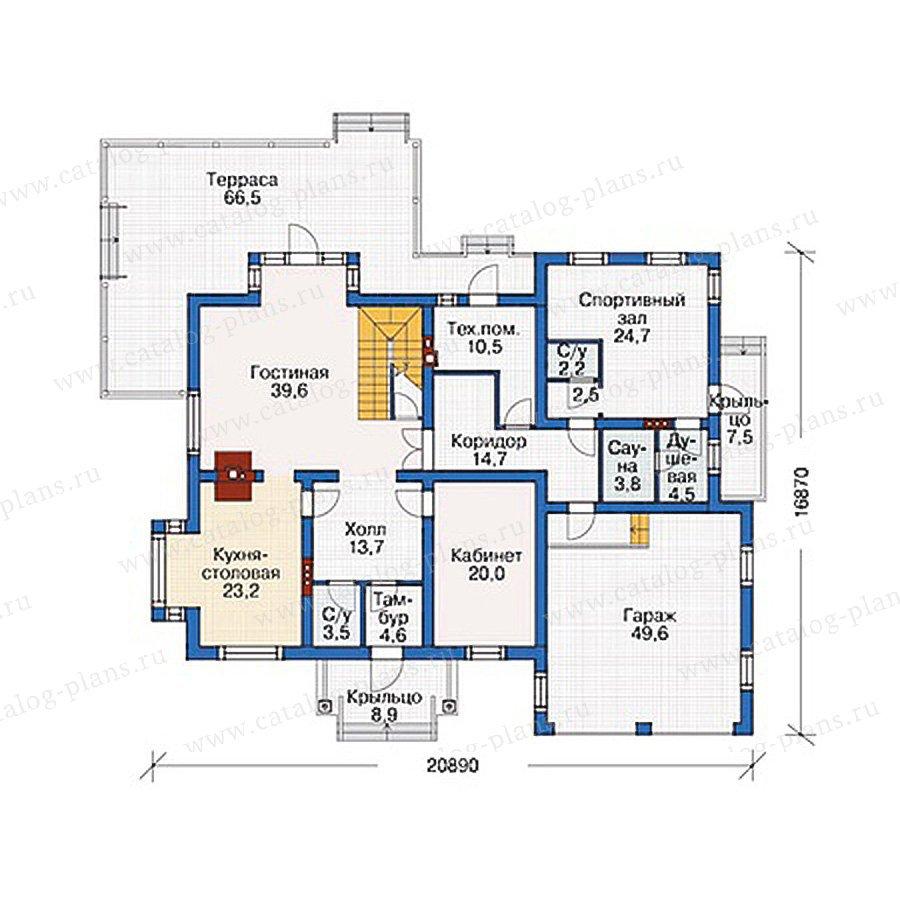 План 1-этажа проекта 37-16