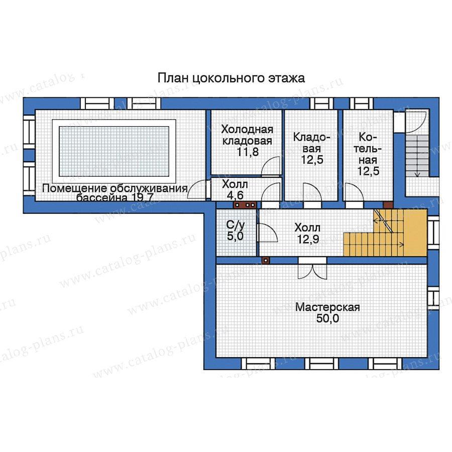 План 1-этажа проекта 38-56