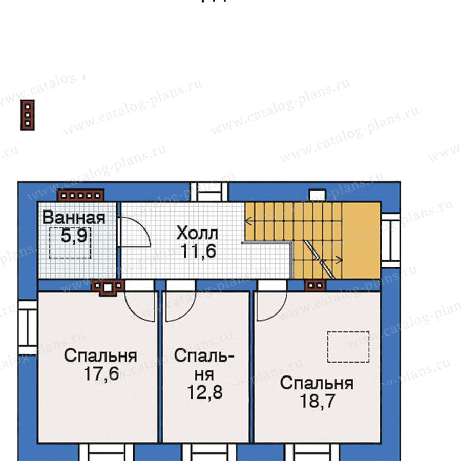 План 3-этажа проекта 38-56