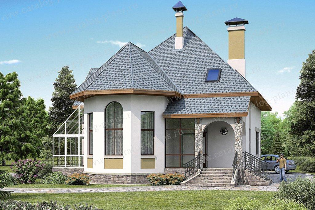 Проект жилой дом #37-06 материал - кирпич, стиль европейский