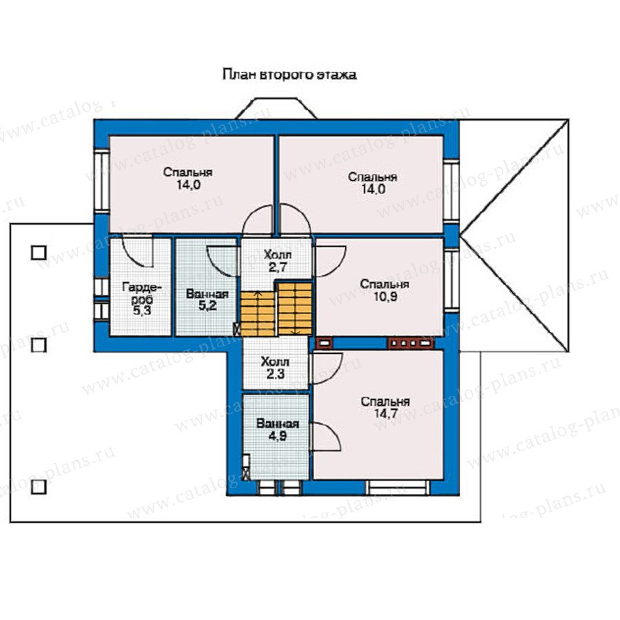 План 2-этажа проекта 37-69